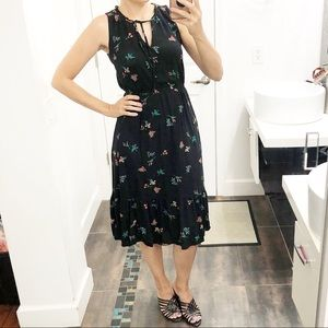 Old navy black floral dress size small